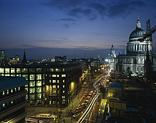 Dusk St Paul's Cathedral, the City, London - 9011-10-1