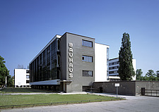 The Bauhaus Building in Dessau, Germany by Walter Gropius - 38888-80-1