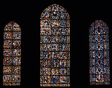 Stained glass window, Chartres Cathedral, France - 37388-80-1