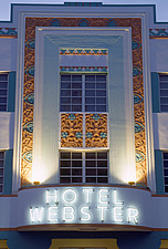 Art Deco detail, Hotel Webster, Collins Avenue, South Beach, Miami, Florida - 37719-40-1
