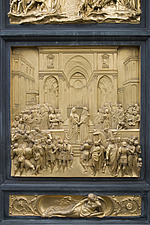 Detail of Ghiberti's Doors at the Duomo, Florence, Italy - 12164-10-1