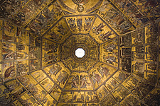 Ceiling of the Baptistery, at the Duomo, Florence, Italy - 12164-20-1