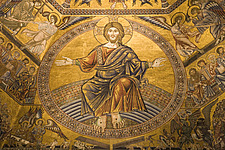 Detail of Jesus Christ on the ceiling in the Baptistery, at the Duomo, Florence, Italy - 12164-30-1
