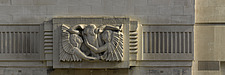 Ariel between Wisdom and Gaiety by sculptor Eric Gill - 11335-80-1