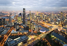 Aerial view  with the Eureka Tower  in the Melbourne, cityscape - 31273-20-1