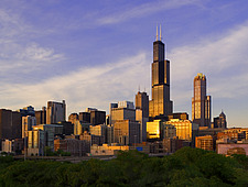 Sears Tower and the Chicago Skyline, Chicago, Illinois, USA - 12404-80-1
