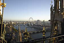 London panorama from Victoria Tower, Palace of Westminster, London - 11348-10-1