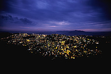 Aizawl city at night, Mizoram, India - 31523-10-1