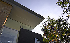 Low angle view of double height exterior at Pond and Park House, Dulwich, London, UK - 12390-180-1
