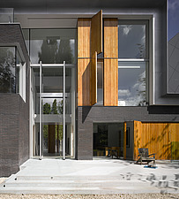 Modern exterior of Pond and Park House, Dulwich, London, UK with double height front door - 12390-50-1