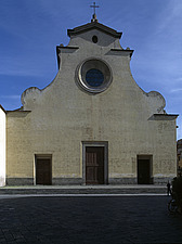 Florence Italy facade of Santo Spirito Begun in 1444 - 8999-460-1