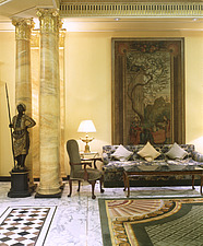 DORCHESTER HOTEL, LONDON   marble floor statue column luxury luxurious - 1202-200-1