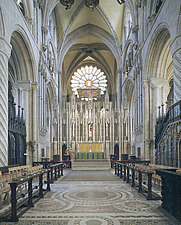 Durham Cathedral, County Durham, England, founded in AD 1093 - The Nave - 1253-110-1