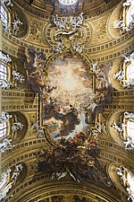 Celing detail at Chiesa del Gesu, Rome, Italy - 12034-100-1