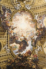 Celing detail at Chiesa del Jesu, Rome, Italy - 12034-110-1