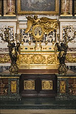 The altar where the body and arm of Francis Xavier rest at Chiesa del Gesu, Rome, Italy - 12034-60-1
