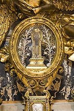 The arm of Francis Xavier above the altar at Chiesa del Gesu, Rome, Italy - 12034-70-1