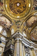 Columns and the dome at Chiesa del Gesu, Rome, Italy - 12034-90-1