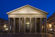 The Pantheon at dusk, Rome, Italy - 12036-10-1