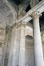 Exterior columns at The Pantheon, Rome, Italy - 12036-70-1