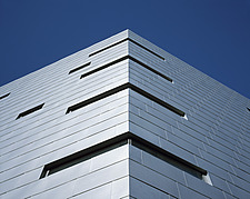 Corner view of a building's cladding - 22611-170-1