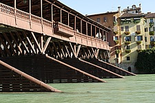 The old wooden covered bridge, Ponte degli Alpini, Bassano del Grappa - 31921-40-1