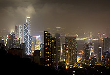 Bank of China Tower, Hong Kong Island at night - 31301-60-1