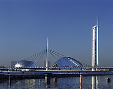 Glasgow Science Centre by Building Design Partnership with 400 foot Glasgow Tower, Scotland - 10184-10-1