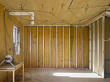 Timber frame interior under construction - 12549-70-1