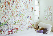 Child's bedroom with colorful mural - 12527-190-1