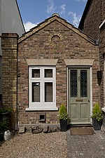 Front door of single storey extension of a Victorian semi-detached house - 12652-40-1