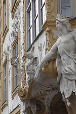 Detail of Baroque facade on Sendlinger Strasse, Munich - 12723-180-1