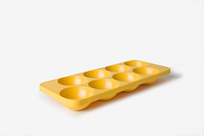 Yellow Moulded Plastic Ice Cube Tray - 12529-850-1