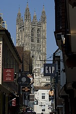 View down Butchery Lane looking towards the Cathedral, Canterbury, Kent, England - 12861-160-1