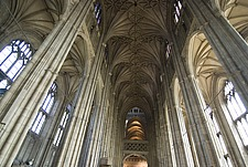 Vaulting ceiling detail, Canterbury Cathedral, Canterbury, Kent, England - 12861-50-1