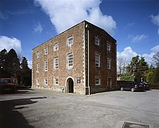 Exterior view of the brick-clad Burton Agnes Manor House, East Yorkshire - 32143-10-1