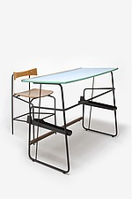 Architects Desk and Stool, Belgian, 1960s - 12528-1890-1