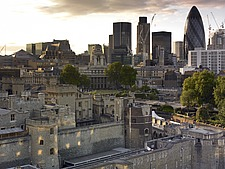 Tower of London and city panorama with Gherkin - 12860-100-1