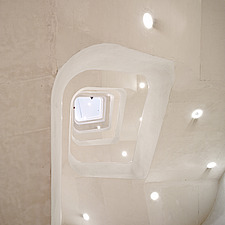 Caixa Forum, interior stairwell looking up - 12941-130-1
