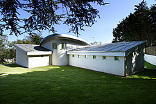 Grass roof, exterior of Moonraker house, Exmouth, Devon, UK - 12957-10-1