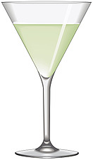 Illustration cocktail, martini glass - 80000-110-1