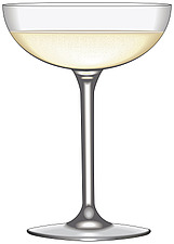 Illustration sparkling wine glass - 80000-130-1