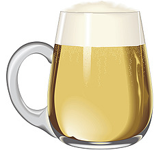 Illustration continental beer tankard - 80000-170-1