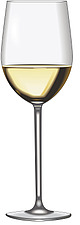 Illustration white wine glass - 80000-50-1