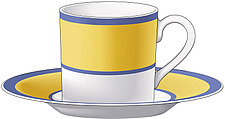 Illustration  of modern tea cup and saucer - 80001-20-1