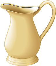 Illustration  of traditional shaped jug - 80001-210-1