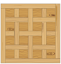 illustration wooden parquet strip flooring with Chantilly pattern - 80004-100-1