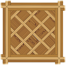 illustration wooden parquet strip flooring with Versailles pattern - 80004-110-1