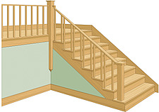 illustration wooden stairs - 80004-120-1