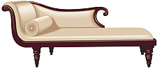 illustraton chaise longue or recamier sofa - 80005-110-1